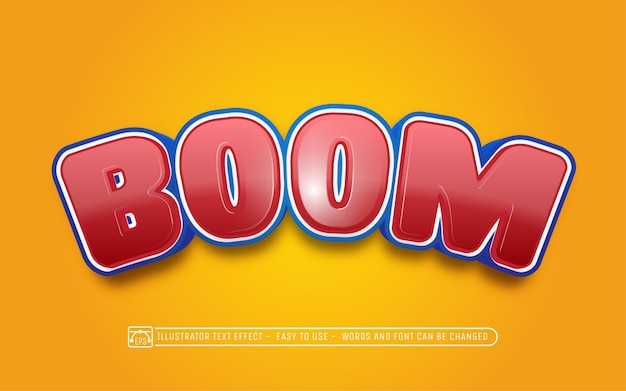 Boom editable text effect font style