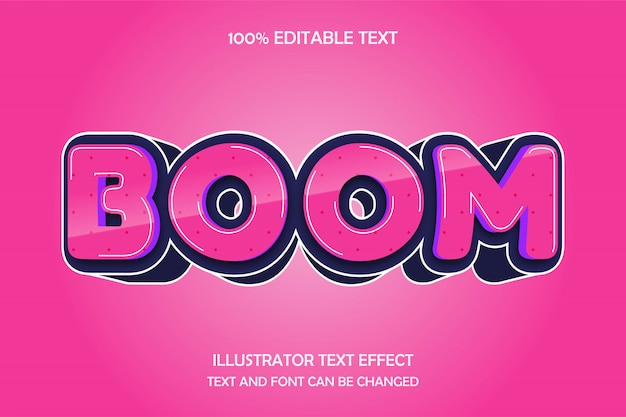 Boom, editable text effect