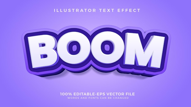 Boom editable text effect