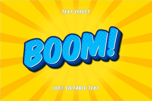 Boom editable text effect