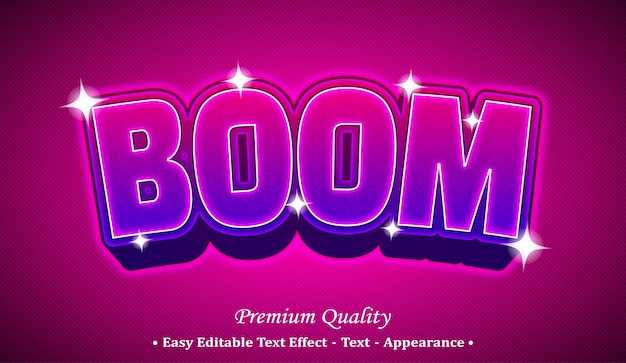 Boom  editable text style effect