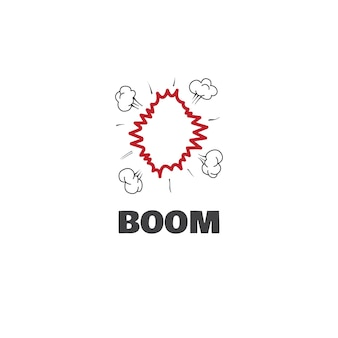 Boom logo graphic design concept. editable boom element, can be used as logotype, icon, template in web and print