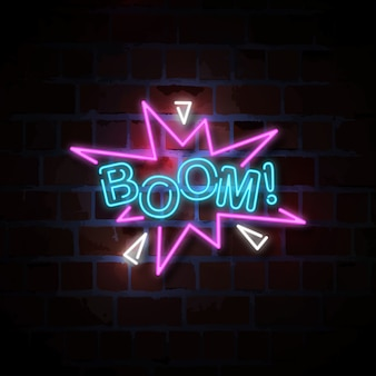 Boom neon sign illustration