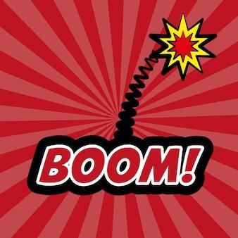 Boom pop art comic design