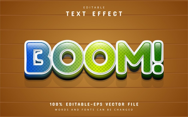 Boom text, cartoon style text effect