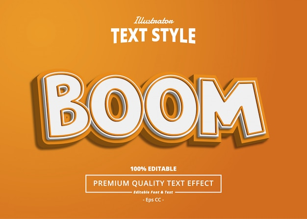 Boom text effect Premium Vector