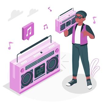 Illustrazione del concetto di boombox