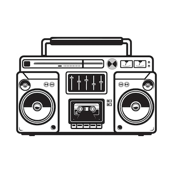Boombox illustrations on white background.  element for logo, label, emblem, sign, badge, poster, t shirt.  image