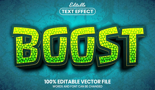 Boost text, font style editable text effect