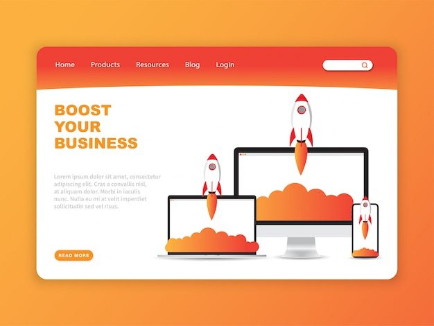 Boost your business landing page template