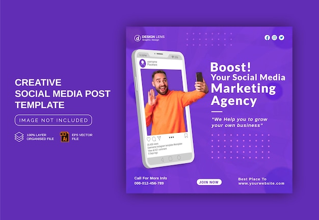 Boost your business with our business experts instagram banner ad social media post template