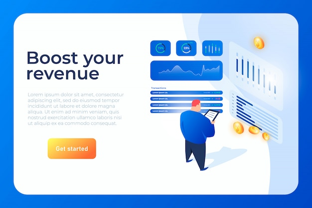 Boost your revenue isometric website