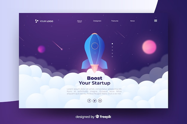 Boost your startup landing page with rocket