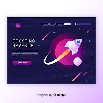 Boosting revenue rocket landing page