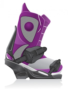 Boot and binding for snowboarding