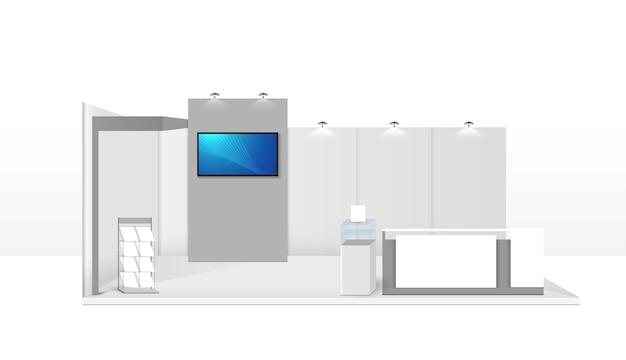Шаблон будки. фирменный стиль. творческий выставочный стенд векторные иллюстрации дизайн.