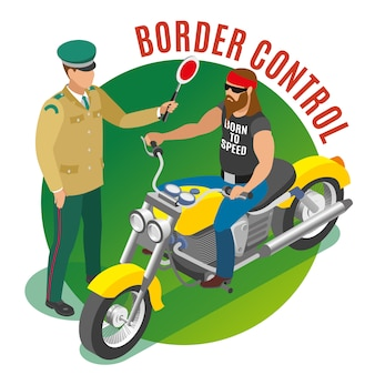 Border control illustration