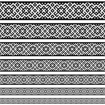 테두리 장식 요소 패턴