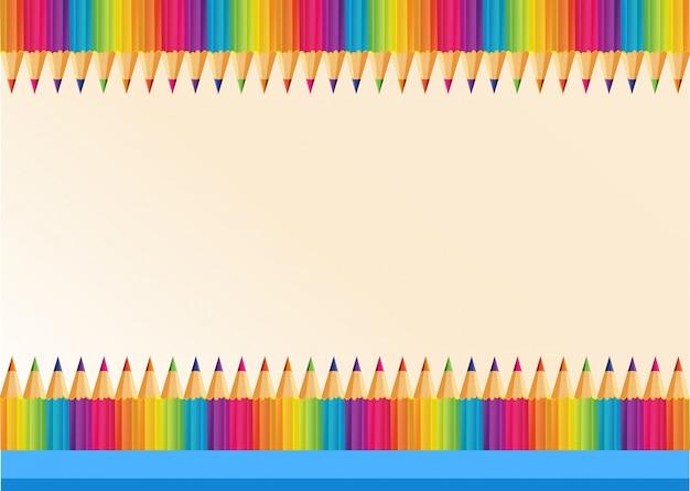 Border design with colorpencils
