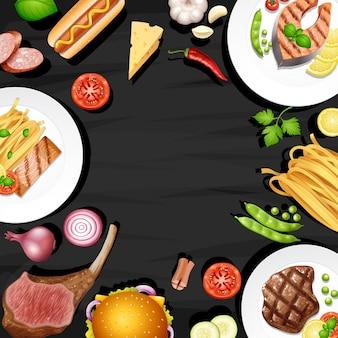 Пограничный дизайн с различными видами питания