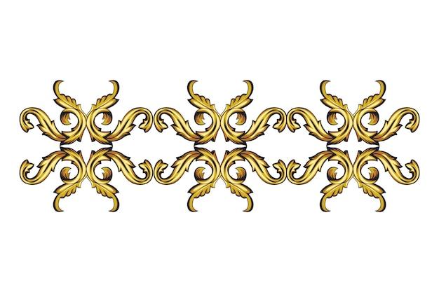 Бордюр золотой декоративный