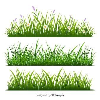 Граница из травы реалистичный стиль