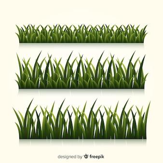 잔디 현실적인 스타일의 테두리