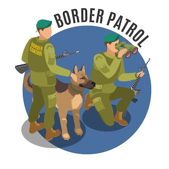 Border patrol with dog