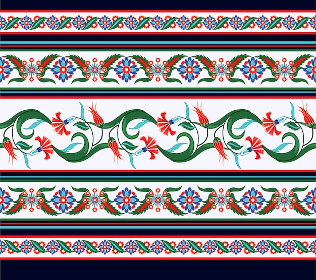 Border seamless with turkish and arabic ornament elements.