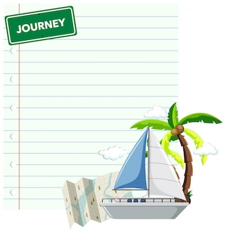 Border template design with cruise journey