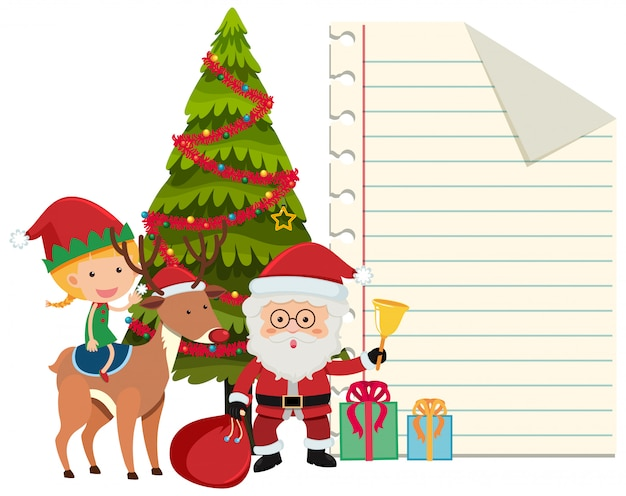 Border template with christmas theme background