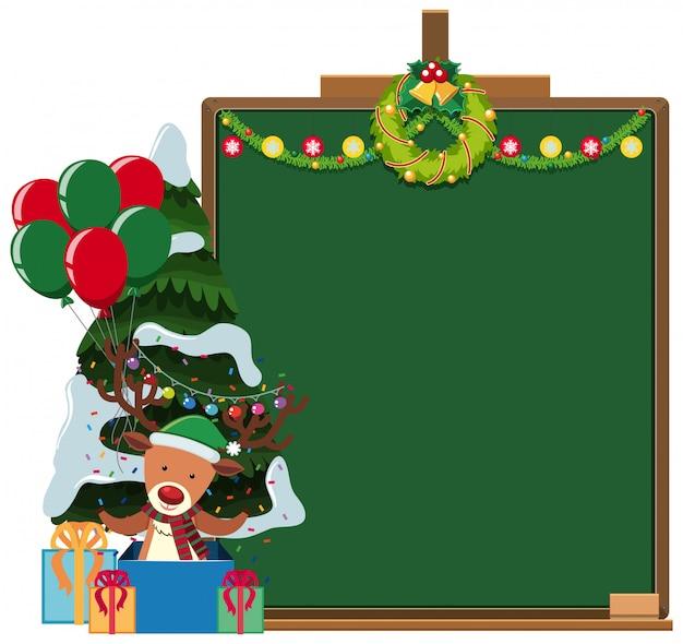 Border template with christmas theme