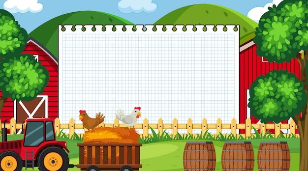 Border template with farm scene
