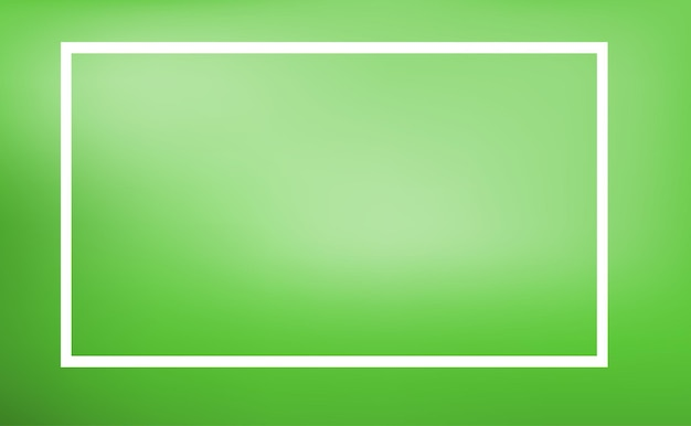 緑の背景とボーダーテンプレート