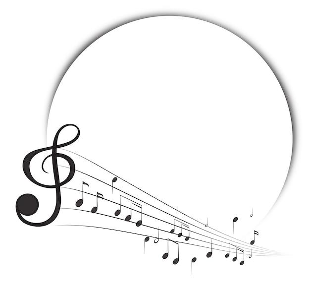 Шаблон границы с музыкальными нотами в фоновом режиме