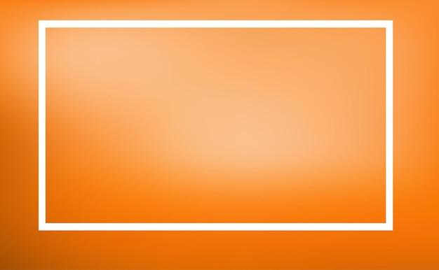 オレンジ色の背景を持つボーダーテンプレート
