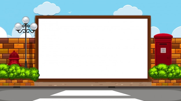Border template with road scene background
