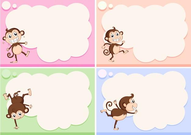 작은 원숭이와 테두리 서식
