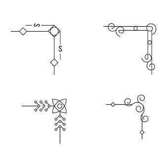 ボーダーベクトルイラストデザインテンプレート