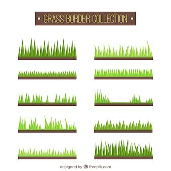 Границы с травой в разных стилях