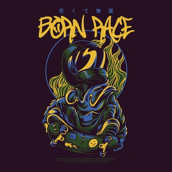 Born race illustration