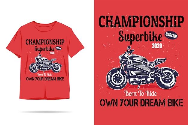 Born to ride silhouette tshirt design