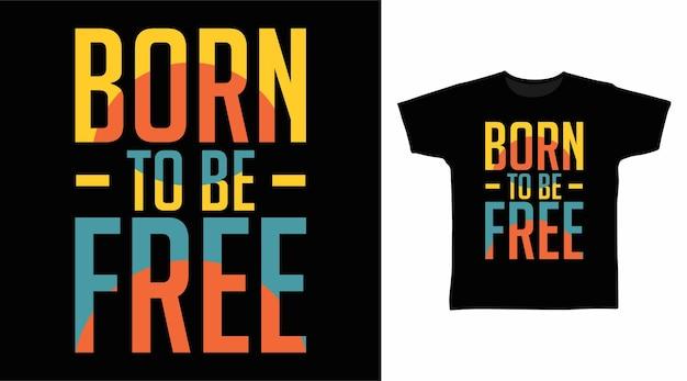 자유로운 타이포그래피 티셔츠 프린트 디자인으로 탄생