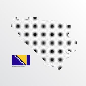 ボスニア・ヘルツェゴビナ地図デザイン