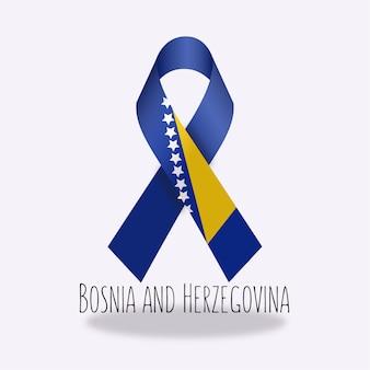 Disegno del nastro della bandiera della bosnia-herzegovina