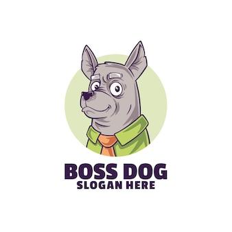 Логотип собаки босса