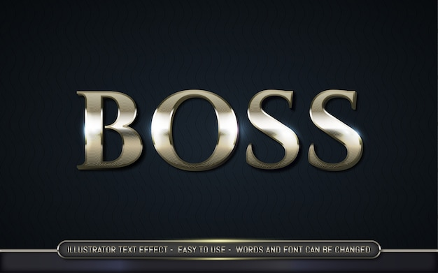 Boss - editable text effect style