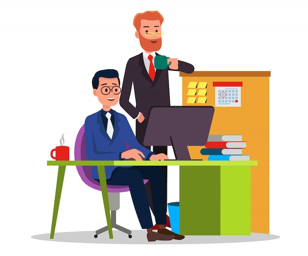 Boss & employee