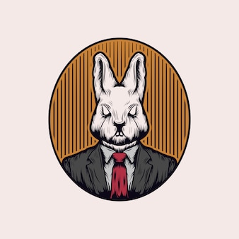 Boss rabbit vector
