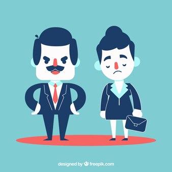 Босс с печальной бизнесменкой